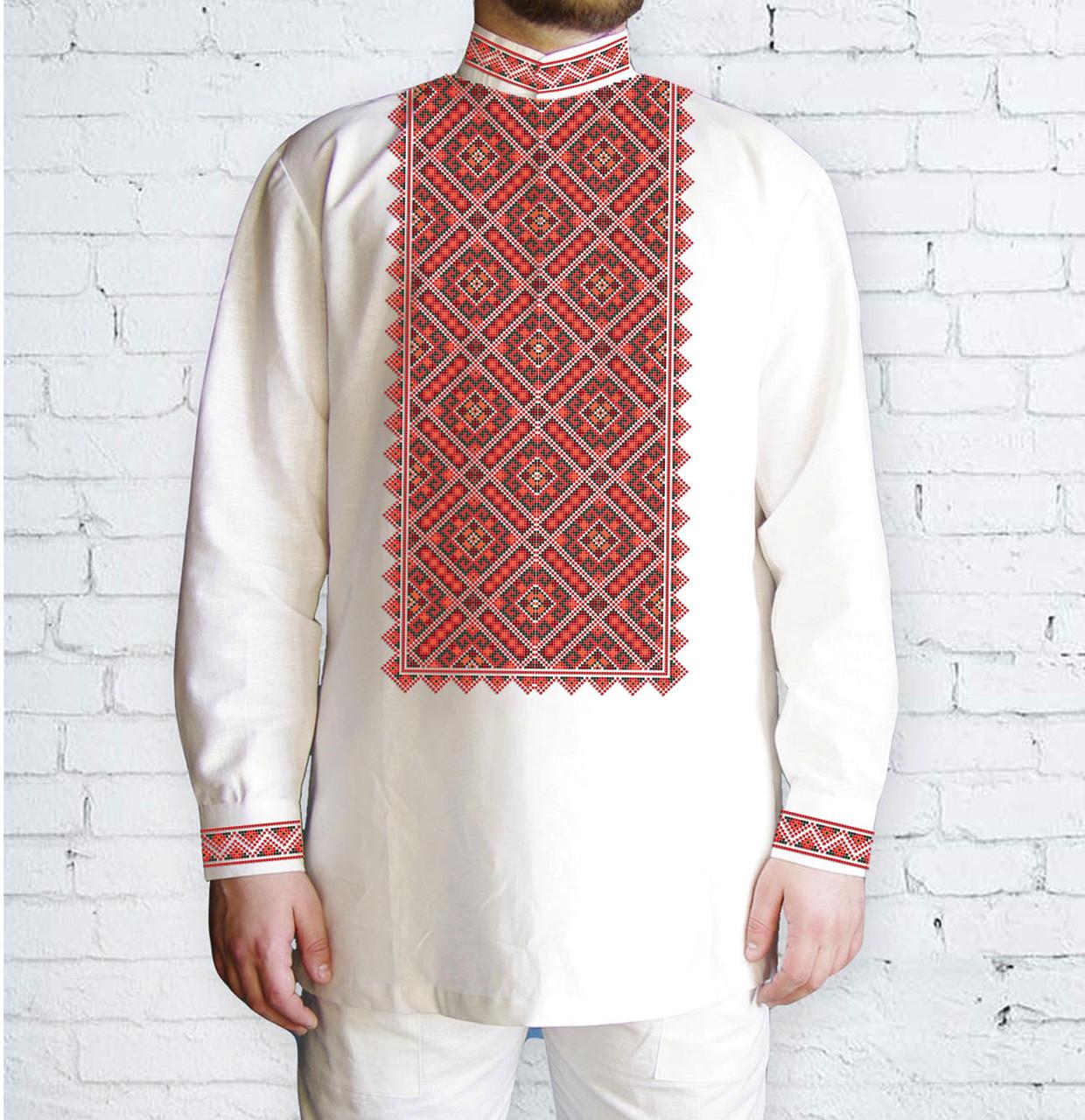 Заготовка чоловічої сорочки та вишиванки для вишивки чи вишивання бісером Бисерок «Синевір 581 Ч» (Ч-581 Ч )