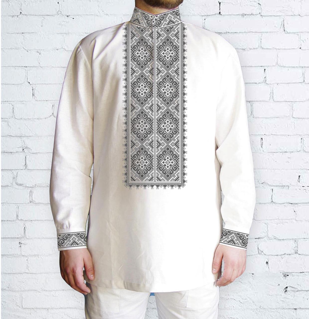 Заготовка чоловічої сорочки та вишиванки для вишивки чи вишивання бісером Бисерок «Орнамент 516 С» (Ч-516 С )