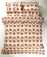 Красивое хлопковое полуторное постельное белье Lotus BOUQUET КОРАЛЛОВЫЙ