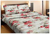 Красивое хлопковое полуторное постельное белье Lotus EVA КОФЕЙНЫЙ