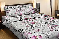 Красивое хлопковое полуторное постельное белье Lotus LOUVRE