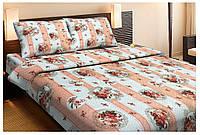 Красивое хлопковое полуторное постельное белье Lotus VINTAGE КОРАЛЛОВЫЙ
