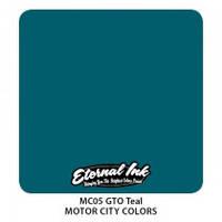 Краска для татуировочных работ Eternal ink. Motor City. GTO Teal 1/2 oz
