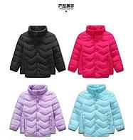 Демисезонная куртка на девочек. Размеры 90-120.