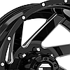 FUEL RENEGADE DUALLIE 2PC Gloss Black with Milled Accents, фото 3