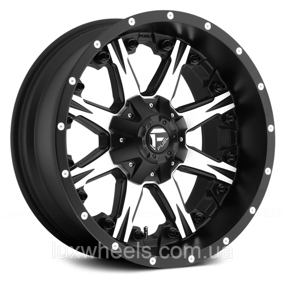 FUEL NUTZ 1PC Matte Black with Machined Face