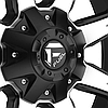FUEL NUTZ 1PC Matte Black with Machined Face, фото 3