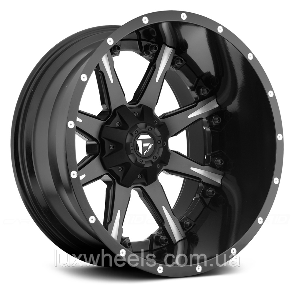 FUEL NUTZ 2PC Black with Milled Spokes