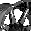 FUEL NUTZ 2PC Black with Milled Spokes, фото 2