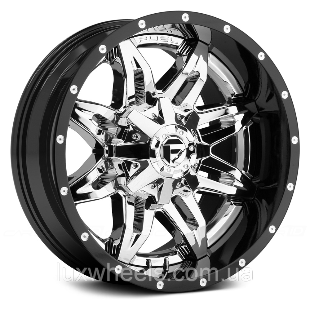 FUEL LETHAL Gloss Black with Chrome Center