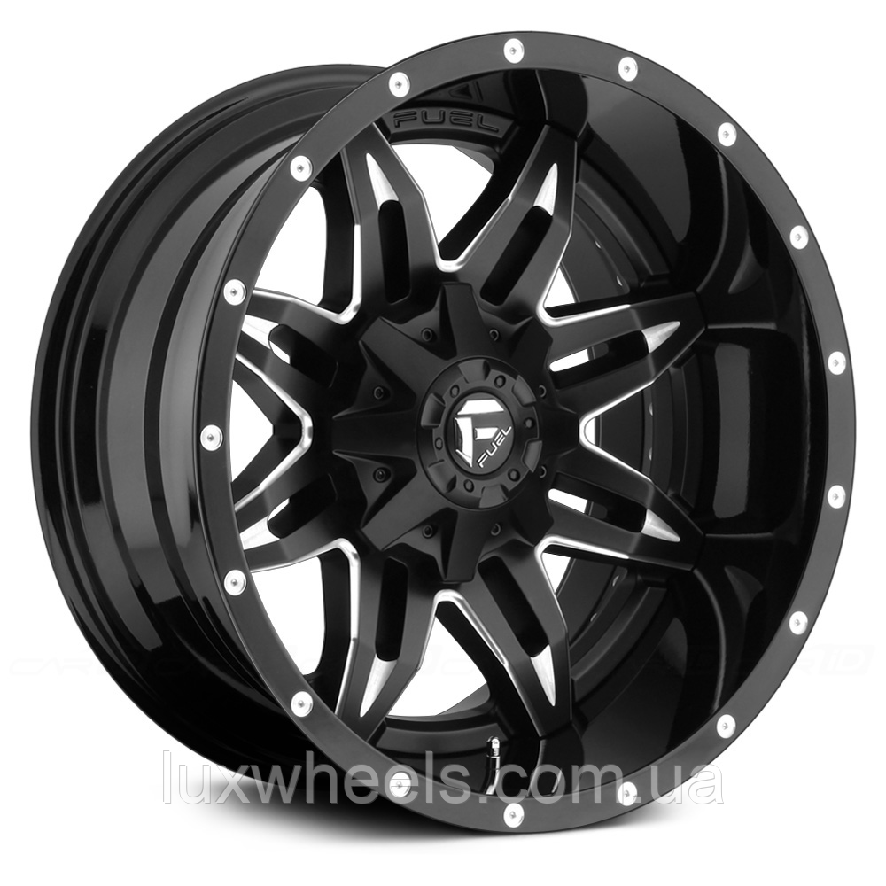 FUEL LETHAL Gloss Black with Milled Accents