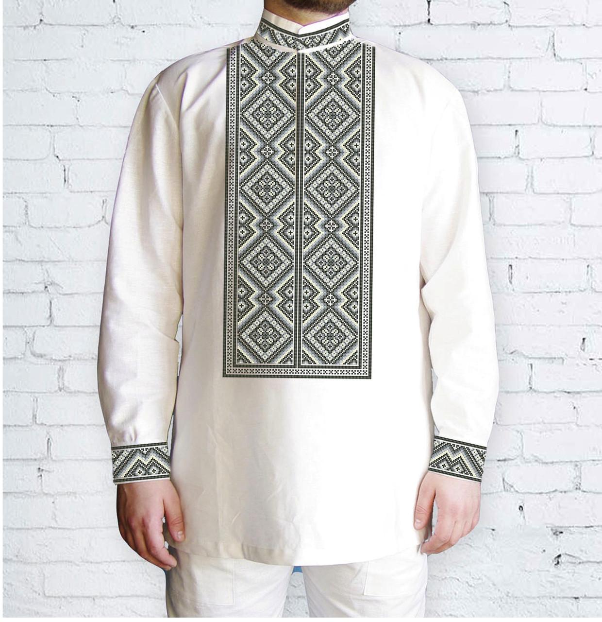 Заготовка чоловічої сорочки та вишиванки для вишивки чи вишивання бісером Бисерок «Монохром» (Ч-576 )