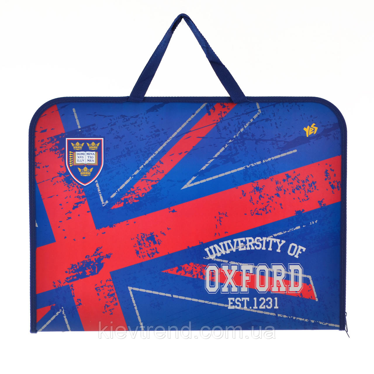 """Папка-портфель на молнии с тканевыми ручками А3 """"Oxford"""""""