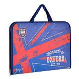"""Папка-портфель на молнии с тканевыми ручками А3 """"Oxford"""", фото 2"""