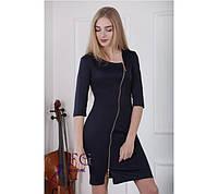 Платье облегающее с ассиметричной молнией, фото 1