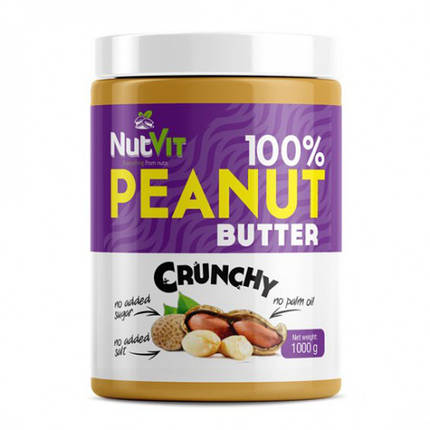 Арахісове масло 100% Peanut Butter OstroVit, фото 2