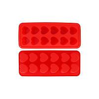 Форма силиконовая порционная Сердечки Kamille 7705