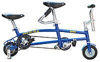 Міні-велосипед-тандем QU-AX Minibike Tandem 6˝ синій