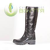 Резиновые сапоги с кожаным верхом  Mida 22059 ч-к 38,40 размеры
