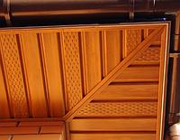 Потолочная панель Софит с перфорацией 0,305х3,39м. Борышев (BORYSZEW ) Орех