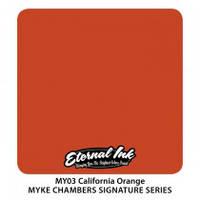 Краска для татуировочных работ  Eternal ink. Muke Chambers. California Orange 1/2 oz, фото 1