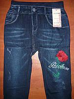 Бесшовные лосины под джинс Ласточка. Норма. С рисунком, фото 1