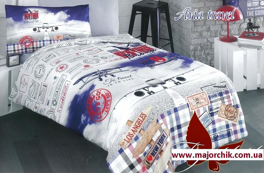 Комплект постельного белья Авиа путешествия 1,5 спальный 150х220