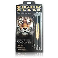 Meizu M3 / M3 Mini захисне скло 0.3 мм, TigerGlass 3D чорне SilkSсreen
