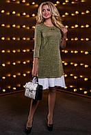 Красивое модное женское платье 2522 светло-кофейный