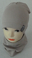 """Комплект шапка-домик и хомут для мальчиков """"Viva"""" 3-8 лет, разные цвета"""