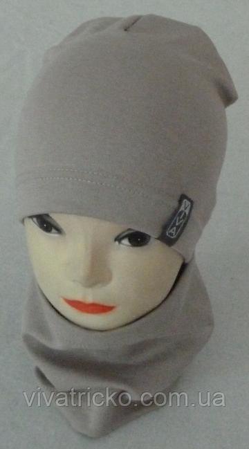Комплект шапка-домик и хомут для мальчиков