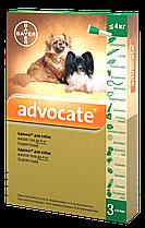 Капли от блох и клещей Адвокат® (для собак до 4 кг), 1 пипетка 0,4мл