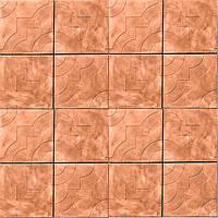 Плитка тротуарная Гранплит Чайка  300х300x30 мм оранжевая