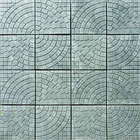 Плитка тротуарная Круг  290х290x35 мм Круг серая