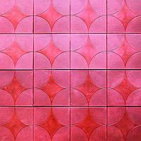 Плитка тротуарная Венера 300x300x30 мм красная