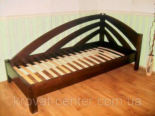 """Кровать односпальная из серии """"Радуга"""". Массив - ольха, береза, дуб., фото 2"""