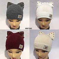 Детская  Вязаная осенняя шапка 0047 (32) Код: 653596295