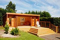 Садовый домик с террасой