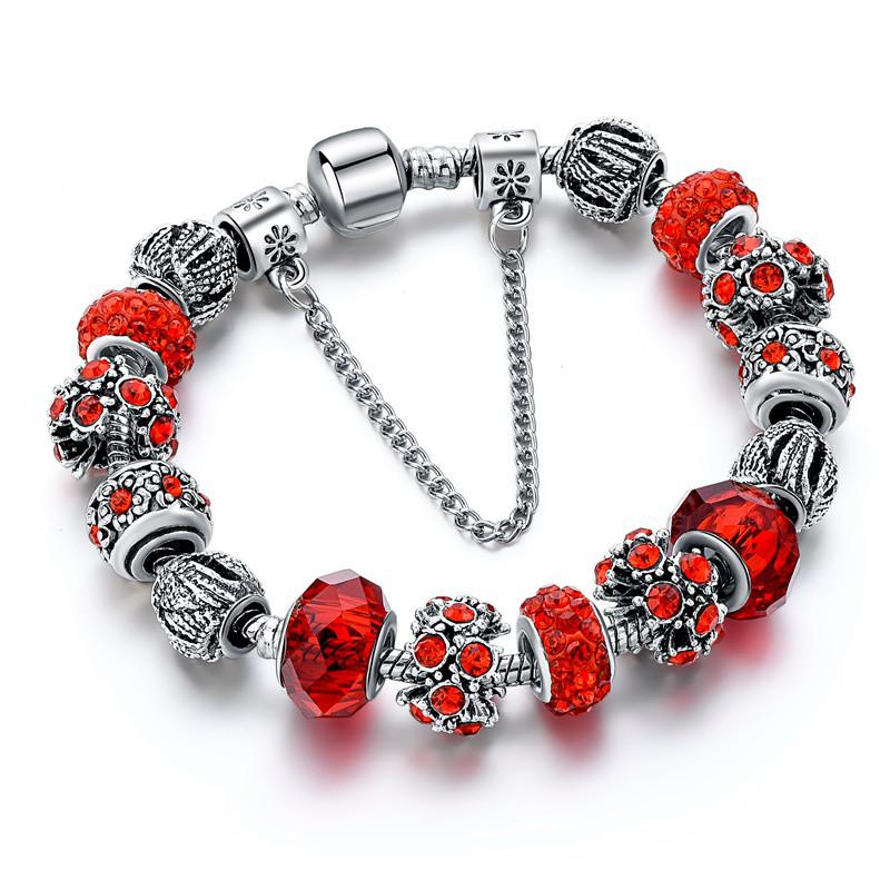 Жіночий браслет SHARM в стилі PANDORA - Red