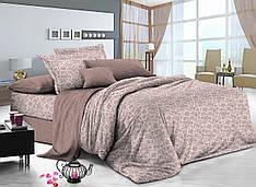 Полуторный комплект постельного белья 150*220 сатин (9208) TM KRISPOL Україна