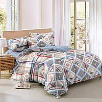 Двуспальный комплект постельного белья евро 200*220 сатин (9216) TM KRISPOL Украина