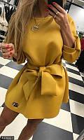 Платье с бантом 437893-1