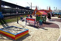 Детская деревянная песочница средняя, фото 3