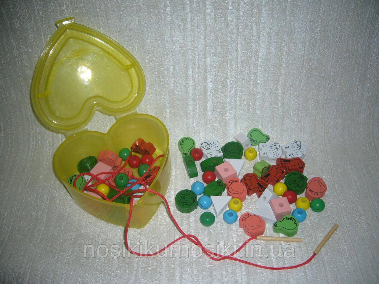 Дерев'яні іграшки Шнурівка MD 0344 мікс