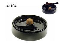 Пепельница для 1-й трубки, Арт. 41104, керамика, цвет черный