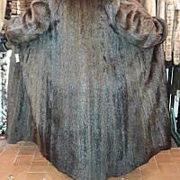 Шуба из сурка в пол. Натуральный мех сурка. Длинная шуба из натурального меха сурка!