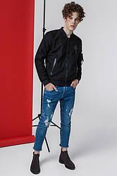 Куртка мужская весенняя черная модная