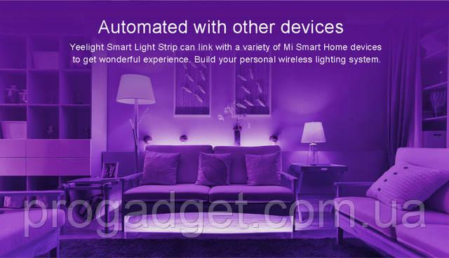 Светодиодная лента Xiaomi Smart RGB LED Light Strip 2m (YLDD01YL) - сделай свою жизнь ярче с Сяоми!