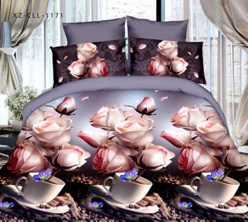 Полуторный набор постельного белья из Ранфорса №020