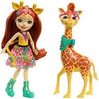 Кукла Энчантималс Жираф Джиллиан и друг Повл / Enchantimals Gillian Giraffe Doll & Pawl Figure